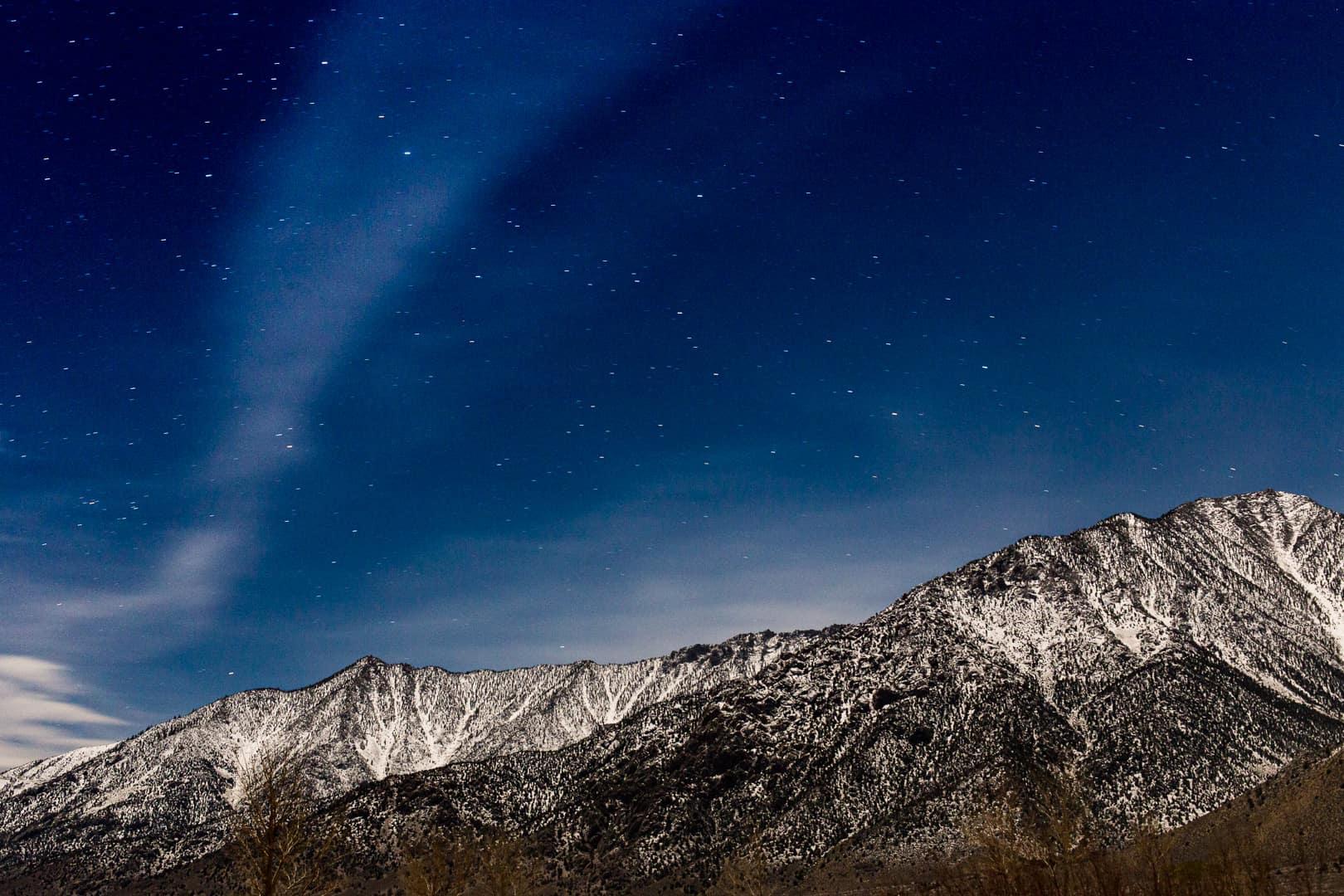 Moonlight, Eastern Sierra, January 2016