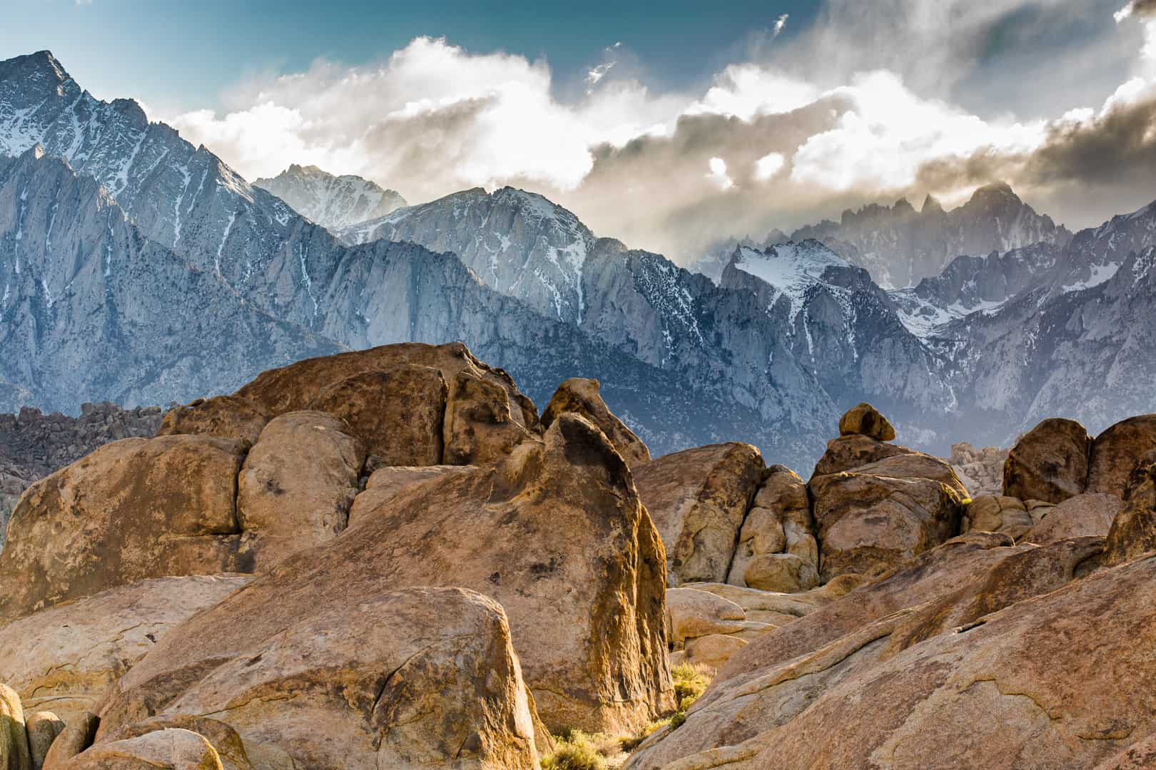 Mount Whitney in the Clouds, Alabama Hills, May 2016