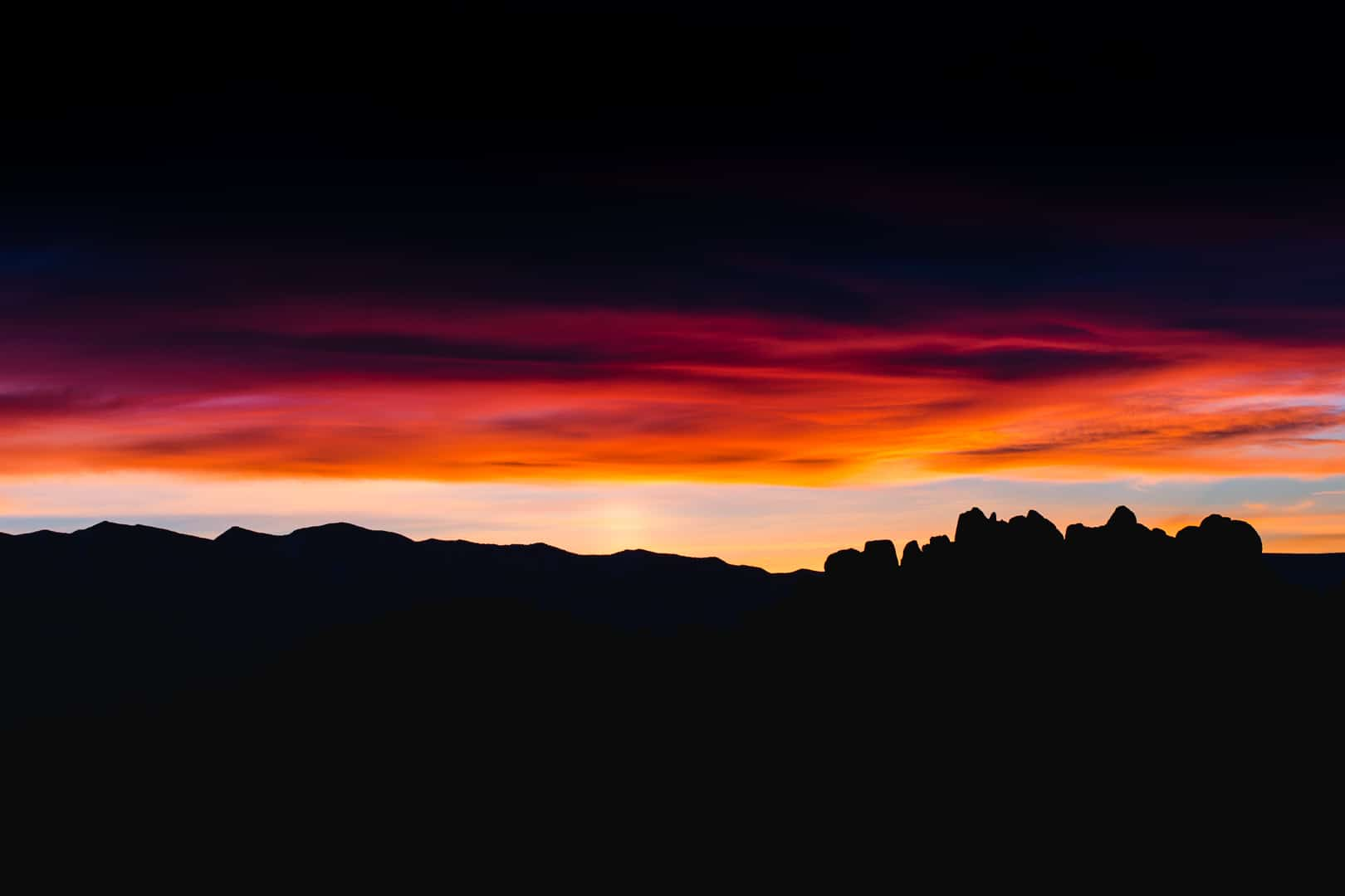Dawn, Alabama Hills, Eastern Sierra, January 2016