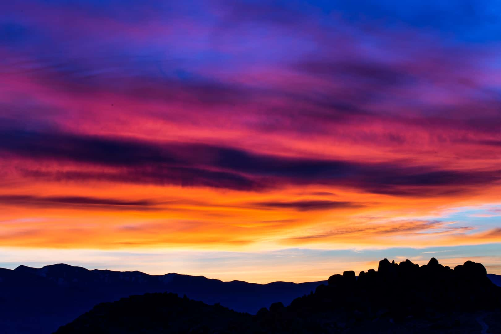 Sunrise, Alabama Hills, Eastern Sierra, January 2016