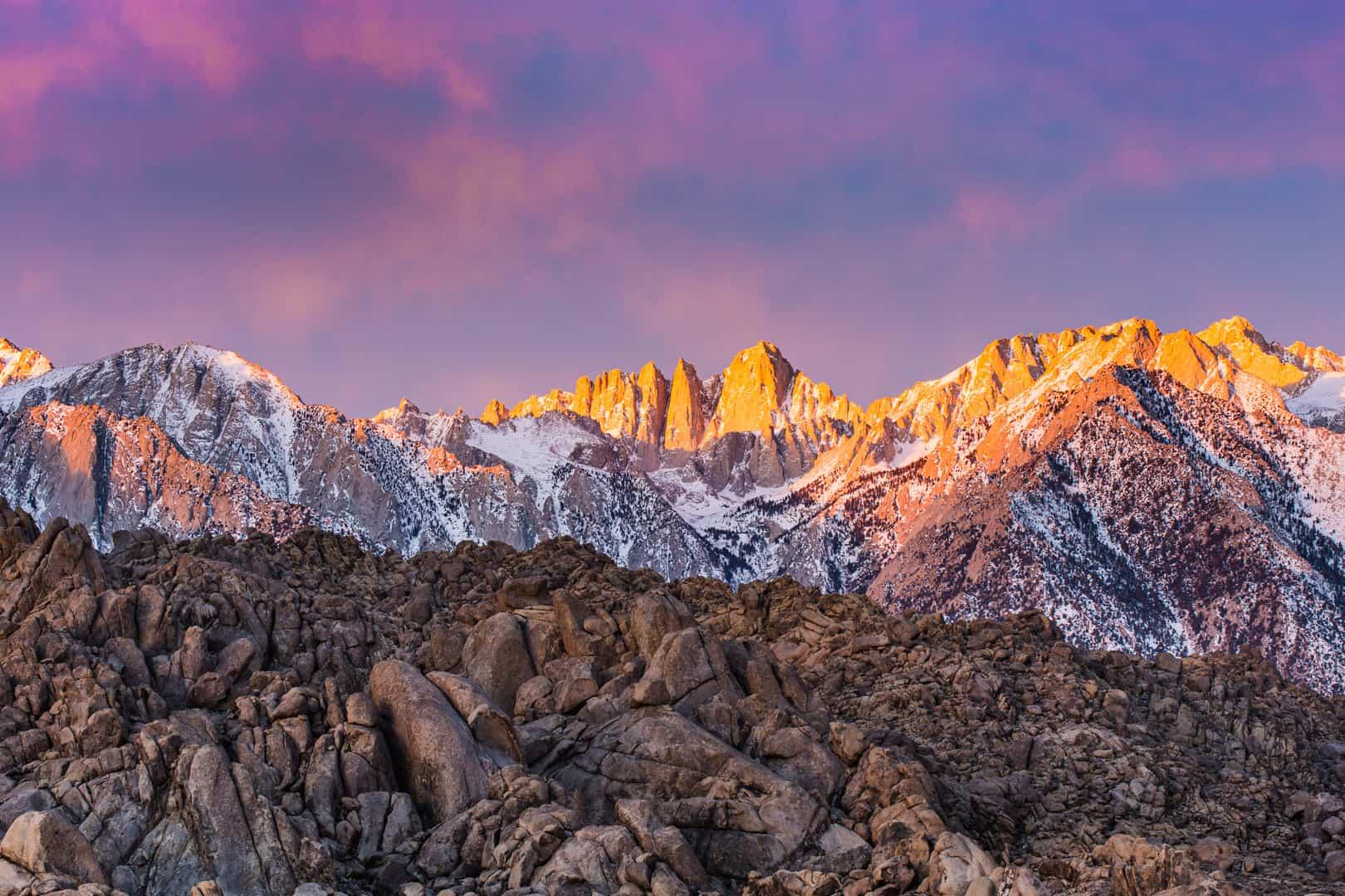 Mount Whitney, Eastern Sierra, January 2016