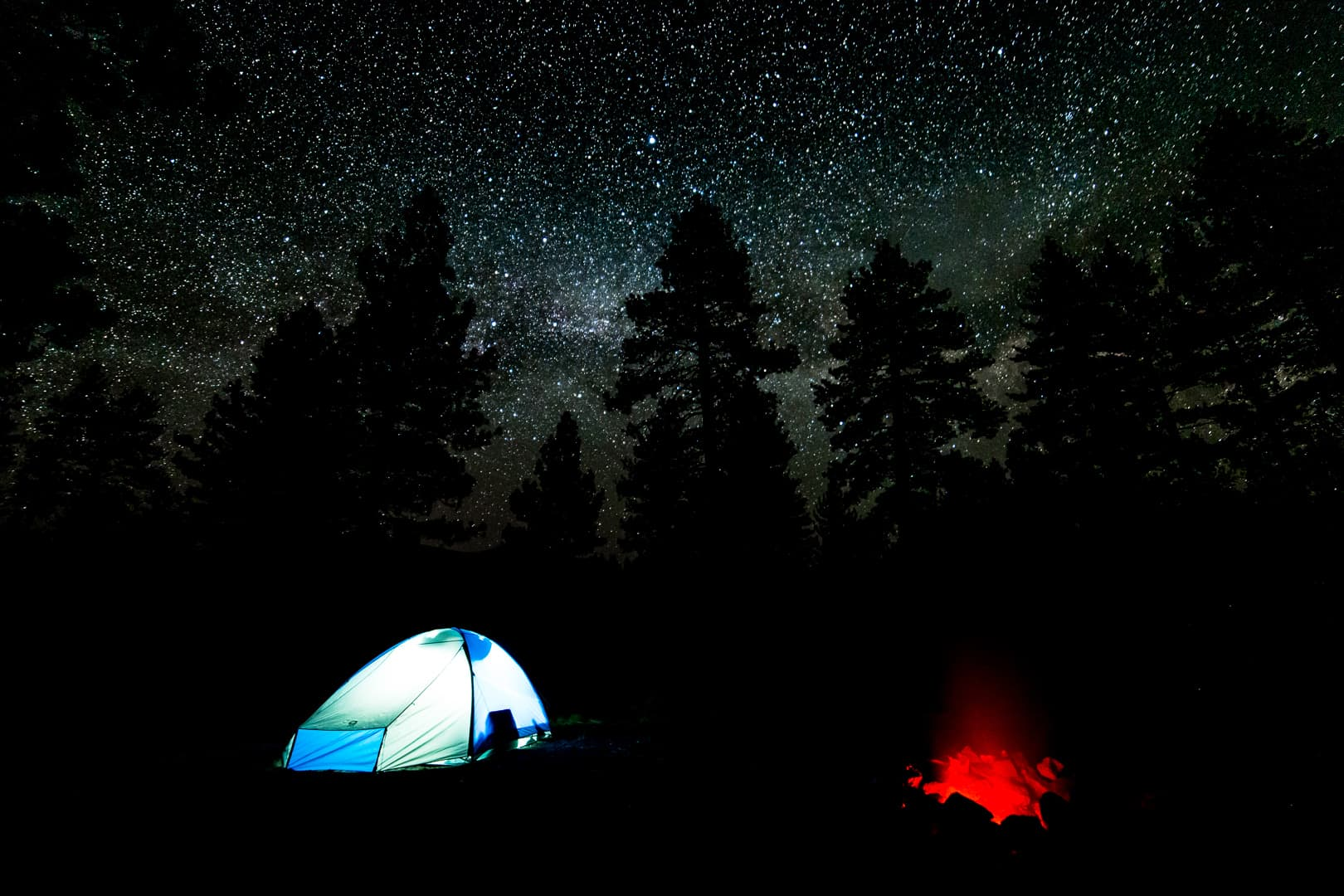 Camp, Big Springs, Eastern Sierra, May 2018