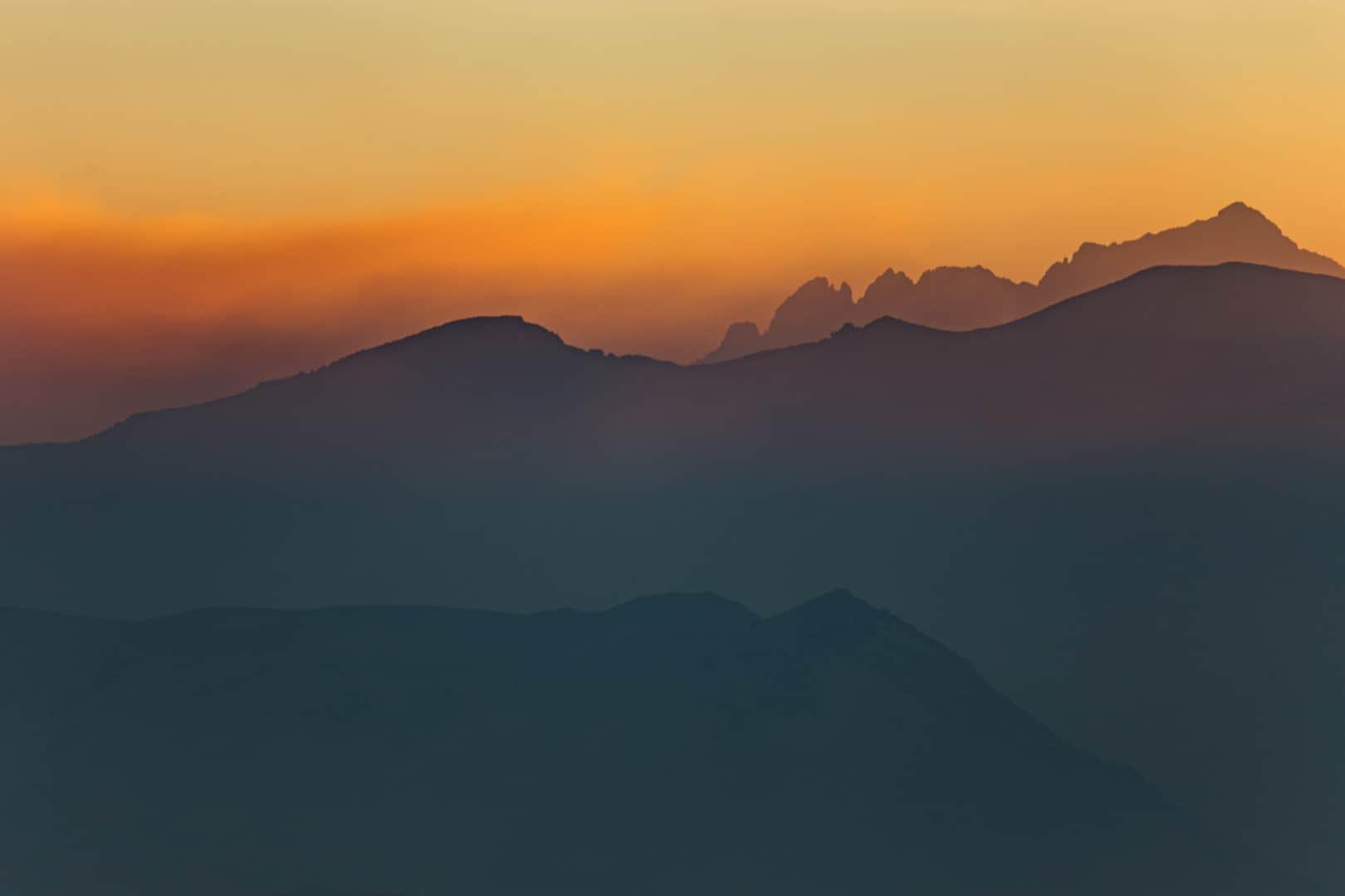 Sierra Crest Smoke, Ritter Range, Eastern Sierra, August 2018